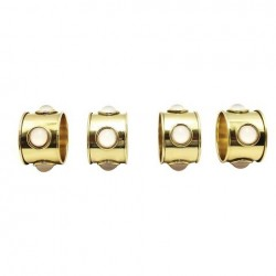 Nate Berkus Gold and Gem Accent Napkin Rings 4 Count