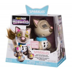 Zoomer Meowzies Sparkles Interactive Kitten - with Lights, Sounds, and Sensor