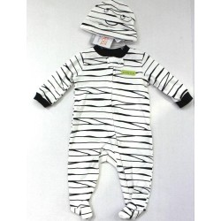 Just One You by Carter's Boys Halloween Mummy Print Bodysuit Footie with Hat