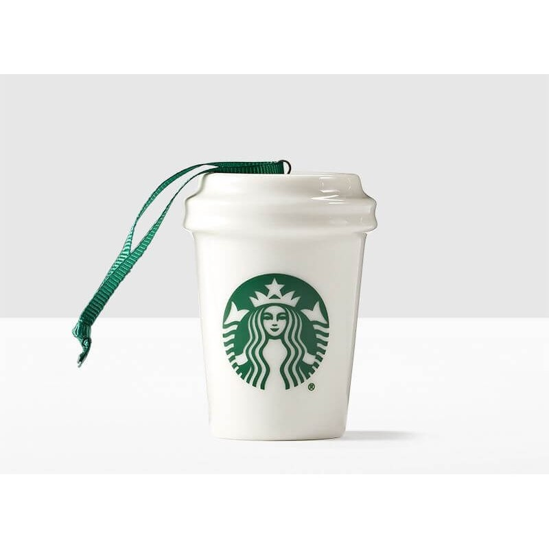 Starbucks Classic White Cup Christmas Ornament