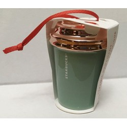 Starbucks 2017 Peace Love Holiday Cup Rose Gold Mint
