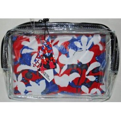 Peter Pilotto Red Floral Print Cosmetic Makeup Pouch Case