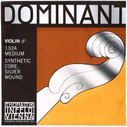 THOMASTIC Infeld Dominant Violin 4/4 132A Medium Synthetic Core Silver Wound D String