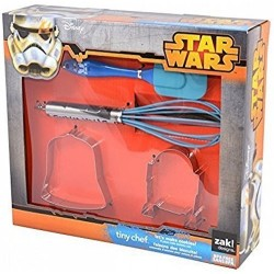 Zak Designs Star Wars Tiny Chef Baking Set for Darth Vader and R2D2 Cookies