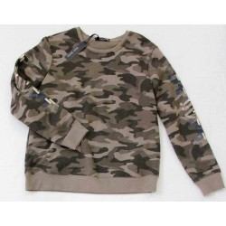 Max Jeans Embroidered Green Camo Sweater