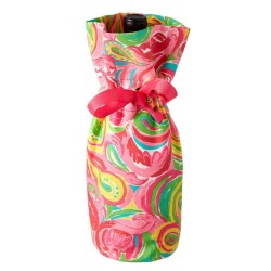 Lilly Pulitzer All Nighter Flamingo Wine Tote