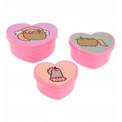 Pusheen Heart Shaped Set of 3 Small Storage Boxes