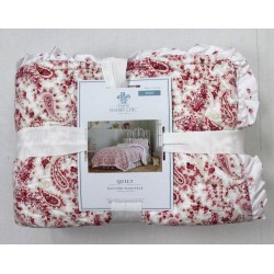 Simply Shabby Chic Country Paisley Ruffle Trim Quilt Size Twin