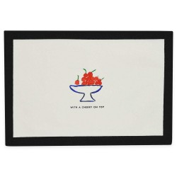 """Kate Spade New York Pretty Pantry """"With A Cherry on Top"""" Placemat Set of 4"""