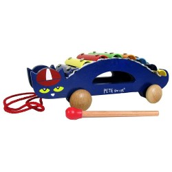 Pete The Cat Pull Along Wooden Xylophone