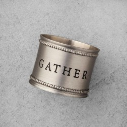 Hearth & Hand with Magnolia Pewter Napkin Ring Set of 4