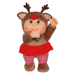 """Cabbage Patch Kids Holiday Helper Everly Reindeer 9"""" Doll Plush"""
