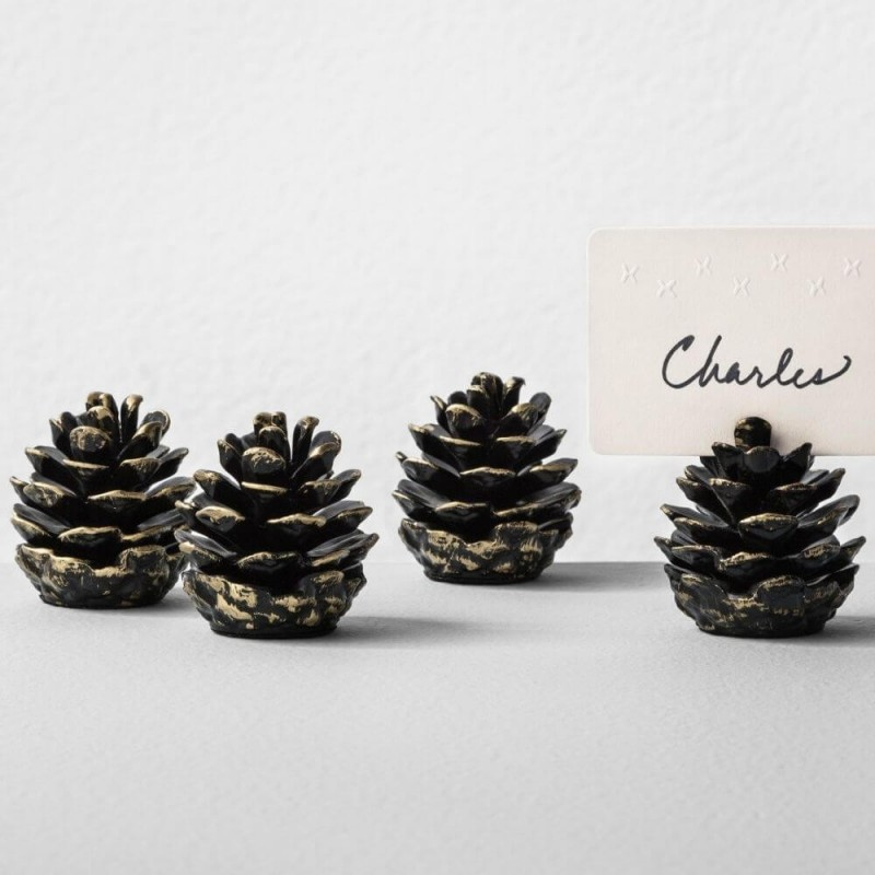 Hearth and Hand with Magnolia Metal Pinecone Placecard Holders or Paperweight Set of 4