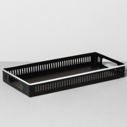 Hearth and Hand with Magnolia Black Metal Decorative Tray