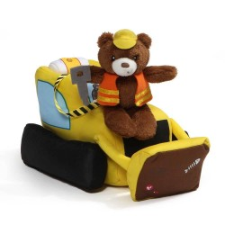 Baby GUND Bulldozer with Teddy Bear Plush with Lights and Sounds