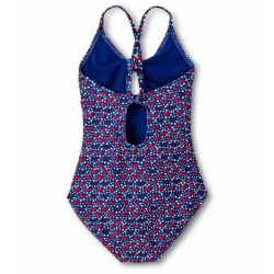 Vineyard Vines Girls America Whales Strappy One-Piece Swimsuit Size S
