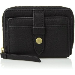 Fossil Women Fiona Leather Zip Around Coin Small Wallet