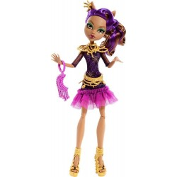 Monster High Firghts Camera Action Black Carpet Clawdeen Wolf Doll