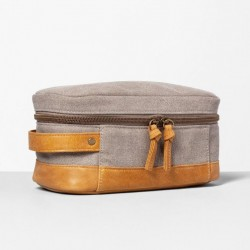Hearth and Hand with Magnolia Canvas Leather Dopp Kit Bag